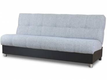 Диван-кровать «Гамма БП» экокожа  черный с мальта серый (S-series)