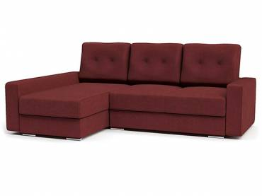 Угловой диван «Амстердам Стиль 2» бордовый (S-series)