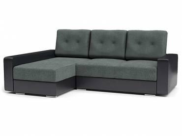 Угловой диван «Амстердам Стиль 2» серый с черным (S-series)